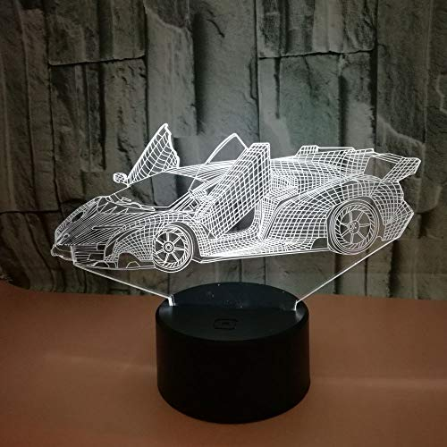 weiaikeke Kreative Werbung Kreative Geschenke 3D Coupe Lampe Luminaria De Mesa Sichtbares Licht Berührungsschalter Desktop Bunte Nachtlicht Glas-coupe