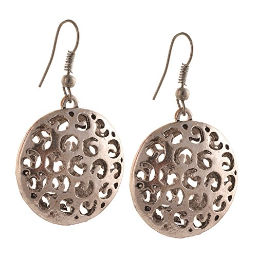 Zephyrr Fashion German Silver Ethnic Hook dangler Earrings for Women  available at amazon for Rs.129