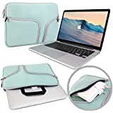 MacBook Pro 13 Sleeve, GMYLE(R) Sleeve Traveler for MacBook Pro 13 inch - Mint Green Neoprene Soft Zipper Case Pouch Sleeve Bag Cover