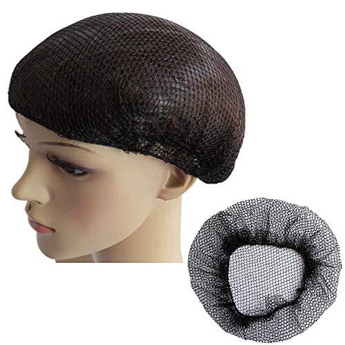 Haarnetz, schwer, latexfrei, elastisch, 50 cm, Schwarz, 10 Stück -