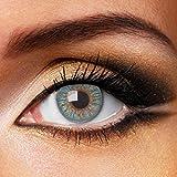 Fashionlens kleurlenzen - Blue Passion - jaarlenzen inclusief lenzendoosje - blauwe zachte contactlenzen