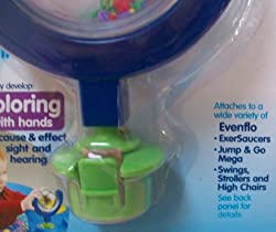 Evenflo Spinny Fish Exersaucer Switch a Roos Link for Baby Swing Stroller High Chair