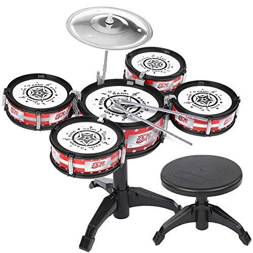 Kinder Jazz Drum Set Klassische Drahtlose Trommel Spielzeug Trommel Schlaginstrument Für Kid Balight (Jungen-drum-set)