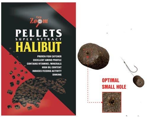 Pellets 'Halibut' mit Loch 8mm Inh.800g, Angelfutter, Lockstoffe