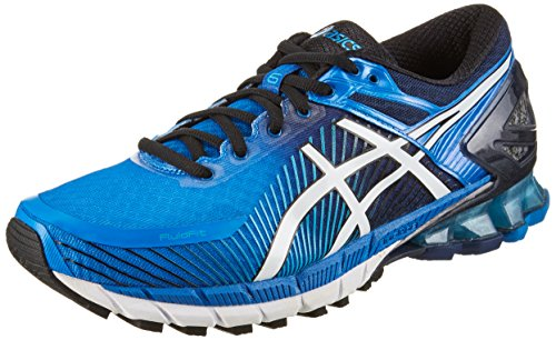 Asics Gel-Kinsei 6, Chaussures de Running Homme, Bleu (Electric Blue/Off White/Vert Island Blue 4200), 42.5 EU