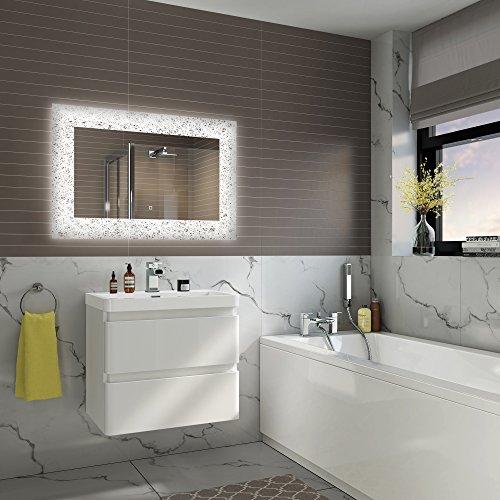 soak Specchio di Design per Bagno con Illuminazione a LED, Sensore Luce e Antiappannamento, 900 x 600 mm - 2