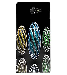 ColourCraft Printed Design Back Case Cover for SONY XPERIA M2