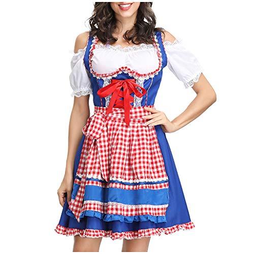 Bier Kostüm Dienstmädchen - Oktoberfest Damen Kleider,MNRIUOCII Dirndl Ladies 'Beer Festival DienstmäDchen KostüM Bier Festival Kleid Sexy Dessous Kleid Maid'S Kleidung Cosplay KostüMe