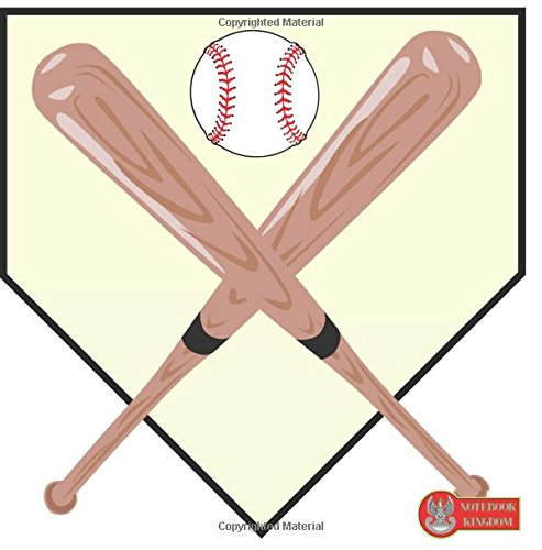"""Notebook Kingdom: Baseball Notebook Journal To Write In Lined Paper 100 Pages 8.25""""x8.25"""" Matte Cover Finish Baseball Gear"""