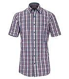 Casa Moda - Comfort Fit - Herren Freizeit 1/2-Arm-Hemd mit Kent Kragen (982972700), Farbe:Rot (400), Größe:M