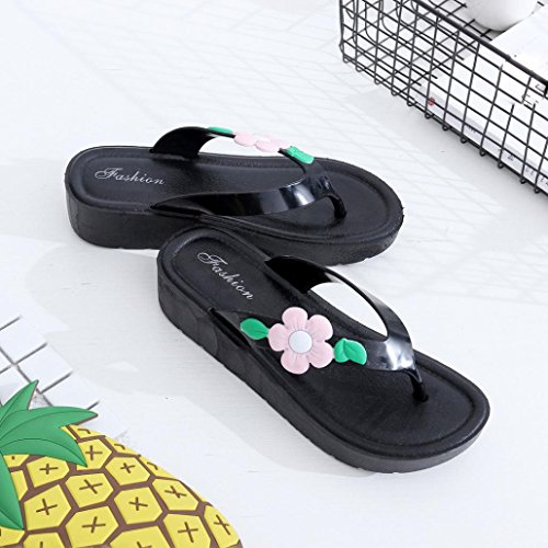 Hausschuhe Sandalen , Kaiki Frauen Sommerblumen Cool Trailers Soft Pantoffeln Beach Flip Flops Schuhe Pink