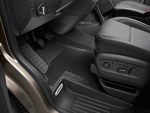 Preisvergleich Produktbild Original VW T5 T6 Transporter Multivan Caravelle Gummi Fußmatten vorn *** Druckknopf *** Heavy Duty Gummimatten Allwettermatten 7H1061551D 041
