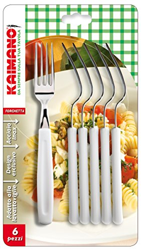 Kaimano KDN760106W Dinamik 6 Forchette, Bianco