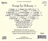 Debussy : Mélodies, Vol. 3. France, Mcgovern, Martineau.