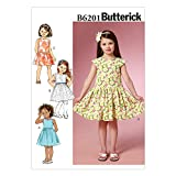 Butterick Patterns 6201 CDD Sizes 2/3/4/5 Children's/Girls Dress