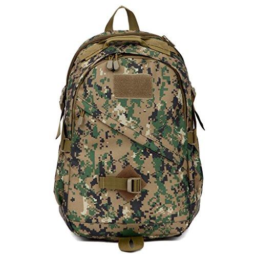 40L Fotografie Rucksack / Campingtasche / Military Army Patrol MOLLE Assault Pack Tactical Combat Rucksack Rucksack Tasche Laptop Rucksack für 10 bis 15,6 Zoll Laptops jungle number