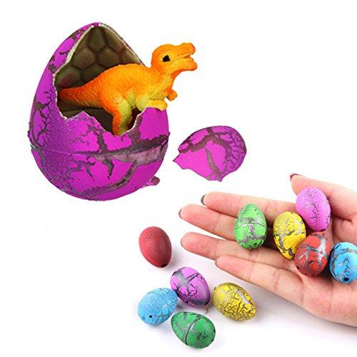 Wicemoon 5pcs/lot magique de Pâques Décoration Oeuf Funny Dinosaure œufs d'incubation Décorations de fête d'anniversaire fêtes d'enfants Fournitures (couleur Ramdon)