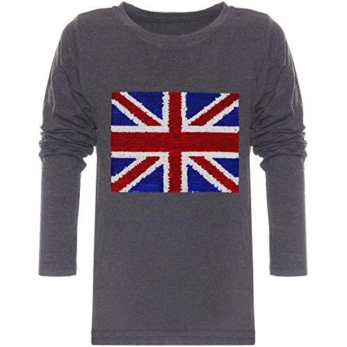 BEZLIT Jungen Langarmshirt Pulli Wende-Pailletten Sweat Shirt England 21731, Farbe:Anthrazit, Größe:152