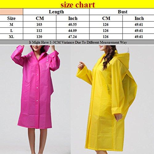 Zhhlaixing Adult Portable Travel Reuseable Showerproof Fashion Long Sleeves Raincoat Yellow