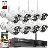 【2019 Nuevo】Sistema de Cámara de Seguridad, 1080P NVR Inalámbrica Kit de Vigilancia CCTV con 8 1080P IP Cámaras de Visión Nocturna, Monitoreo Remoto de Sistema de Seguridad Inalámbrico con 2TB HDD