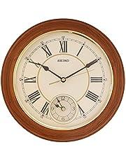 Seiko Brown Wooden Dual Time Wall Clock QXA494B(30 X 30 cm)