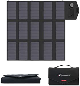 ALLPOWERS Solar Charger 100W Solar Panel Foldable Portable with Dual 5v USB18v DC for Laptop, Tablet, Notebook, 12v Car, Boat, RV Battery, Camping, Hiking, Travel