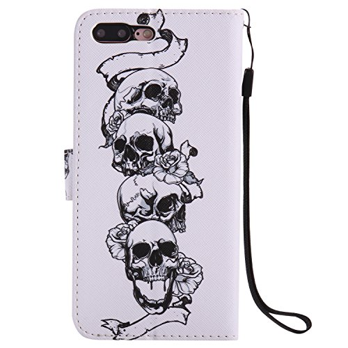 iPhone 7 Plus Wallet Case Flip Cover [gratis gehärtetem Glas Displayschutzfolie + 1 STYLUS PEN] Newstars NEU Modernes 3D Colorful Funny Cute Muster Print Aufdruck Full Body Design – Funkeln Bling Glit P- Castle Series 8