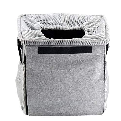 er Auto Booster Sitzbezug Einzelsitz, Klapp Sicherheit Atmungsaktive Sitzbezug Reisetasche Kleine Welpen (Color : Gray) ()