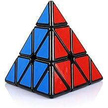 HJXDtech-MoFunGe irregular Cubo Mágico 3x3x3 velocidad torcedura Pyraminx cubo liso Cubo de colores (negro)