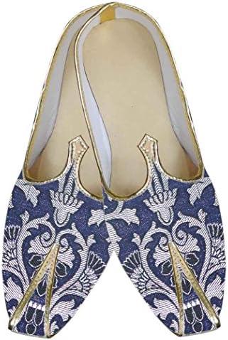 INMONARCH Hombres Azul Marino Indio Increíble Zapatos MJ0135