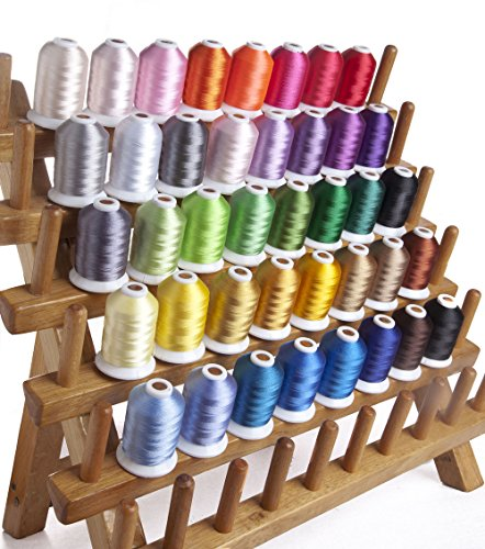 Simthread 40Wt 12 couleurs en polyester Machine à broder thread 1,100 Yd chaque