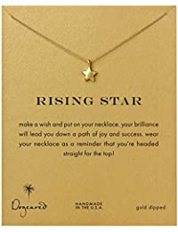 Dogeared Rising Star Gold Plated Full Star Reminder Necklace 45.72cm