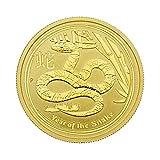 """1/2 oz Australien 2013 Lunar II """"Year of the Snake"""" (Schlange) 0,5 Unzen 999,9 Gold"""