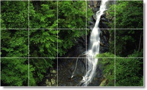 CASCADAS FOTO MURAL AZULEJO W104  12 75X 21 2CM CON (15) 4 25X 4 25AZULEJOS DE CERAMICA