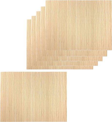 Quiselle 6 Tischsets aus Bambus Farbe Natur ca. 40 x 30cm