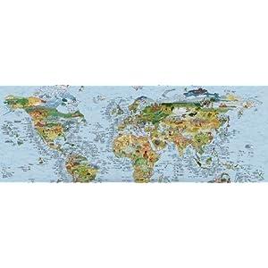 The Surf Trip Map – Póster, diseño de mapa del mundo con indicaciones de surf