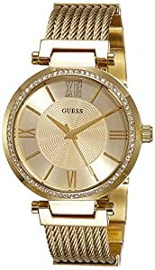 Guess Analog Gold Dial Women's Watch - W0638L2