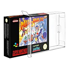 Link-e ® : 10 X Plastic game protect case for game boxes/cartridge Super nintendo (SNES) or Nintendo 64 (N64)