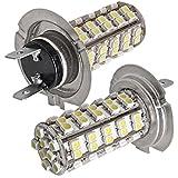 2x Car Auto H7 3528 SMD 68 LED Glühlampe Lampe DC...