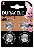 Pile bouton lithium Duracell spéciale 2032 3V, pack de 4 (DL2032/CR2032), conçue pour une utilisation dans les porte-clés, balances et dispositifs portables et médicaux