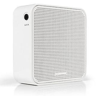 AudioAffairs Steckdosenradio neues Design | Plug in Küchenradio oder als Bluetooth Lautsprecher | Integrierter Akku und Aux in Anschluss | Freisprecheinrichtung und UKW PLL Tuner