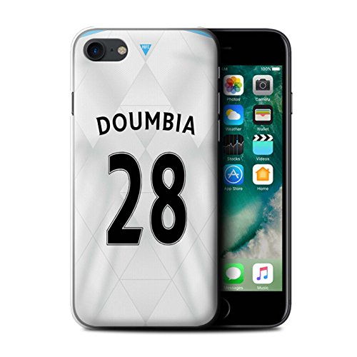 Officiel Newcastle United FC Coque / Etui pour Apple iPhone 7 / Doumbia Design / NUFC Maillot Extérieur 15/16 Collection Doumbia