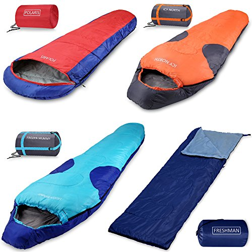 Schlafsack Freshman | Sommerschlafsack -6C bis 11°C | Mumienschlafsack 210x75 cm | Deckenschlafsack...