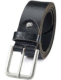 Jeans Anzug Gürtel Echte Büffel Ledergürtel 100% Echtleder Buckle Schnalle 21430
