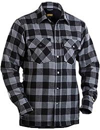 Blakläder Flanellhemd gefüttert, 1 Stück, XL, dunkelgrau / schwarz, 322511319799XL