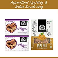 Wonderland Foods Premium Quality Anjeer 400g & Walnut Kernal 200g