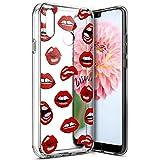 Surakey Coque Compatible avec Huawei P20 Lite,Etui Housse Huawei P20 Lite,Impression de Motif Transparente Souple Silicone Housse Etui Coque en TPU Bumper Case pour Huawei P20 Lite,Lèvres Rouges