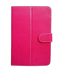 Fastway Flip Cover For Micromax Canvas Tab P480 (8 GB, Wi-Fi+3G)-Pink