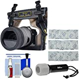 DiCAPac WP-S10 Waterproof Case For DSLR Cameras With LED Torch + Kit