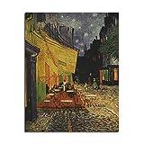 ShopSquare64 Van Gogh Cafe Poster Pã³Ster de Papel Kraft DIY Wall Art 18,5 Pulgadas X 14 Pulgadas